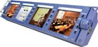 "Datavideo TLM-404H 4 x 4"" Composite 4:3 Rack Mount Quad Monitor"