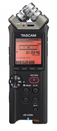 Tascam DR-22WL Portable Handheld Audio Recorder with Wi-Fi
