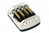 Maha Powerex MH-C401FS AA Battery Charger + 12V adaptor
