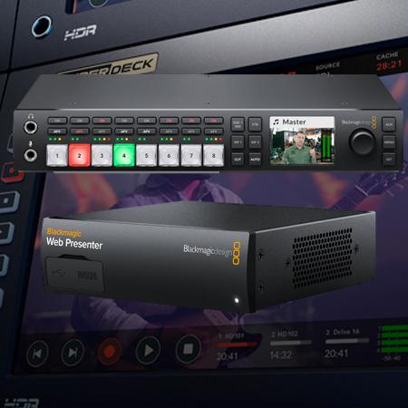 Blackmagic Atem Television Studio Hd W Web Presenter Bundle Atemtvstudiokit Videoguys Australia